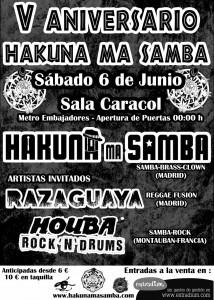 Batucada  Madrid y Francia . Hakuna Ma Samba , RAza guaya , Houba Samba