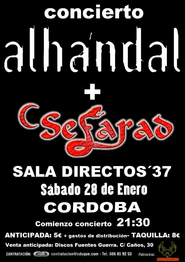 CARTEL CONCIERTO Alhandal + Sefarad XV Aniversario