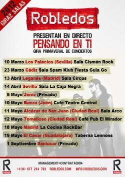 Conciertos Robledos - Gira Marzo Abril Mayo Primavera 2012