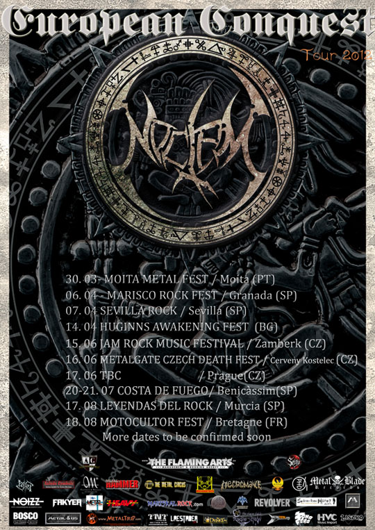 Cartel Gira NOCTEM European Conquest 2012