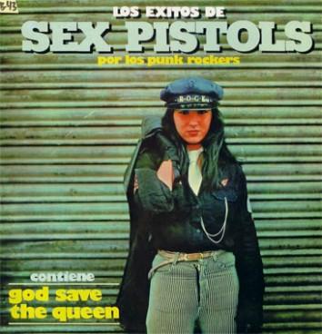 Portada del disco: Los Éxitos de Sex Pistols por los Punk Rockers