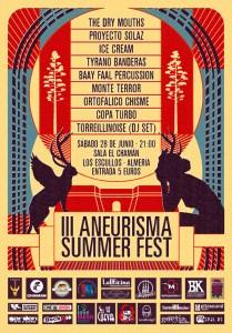 Cartel Aneurisma Summer Festival 2014 Almería