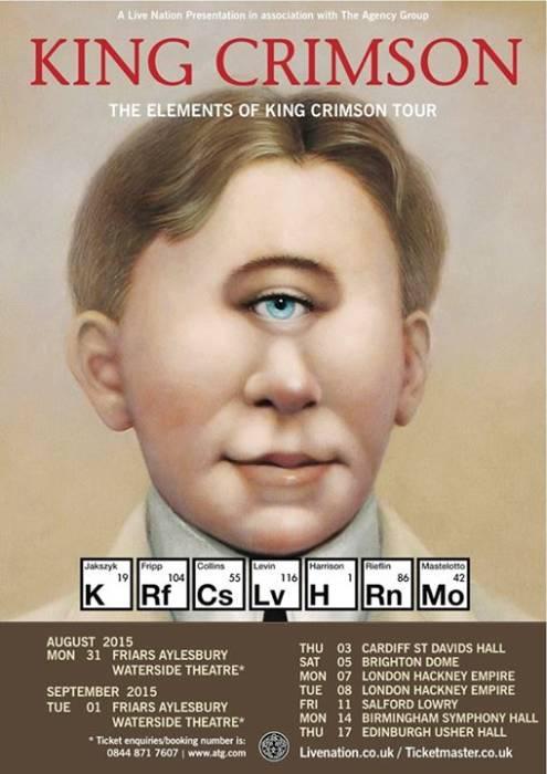 King Crimson, Conciertos Inglaterra, Francia, holanda